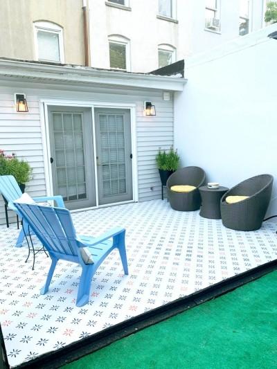 Sademe šabloon terrassil - 2