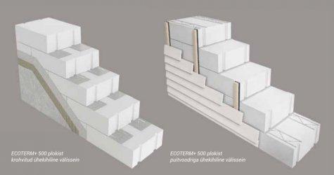 Pilt 2 - Bauroc ECOTERM+ 500 müüriplokid fassaadikrohviga ja puitlaudisega