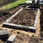 Terrassi vundamendi ehitus Fibo plokkidest ja aluspinna ettevalmistus