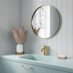 Pilt 2 - Damixa Touchless puutevaba kuldne segisti vannitoas.