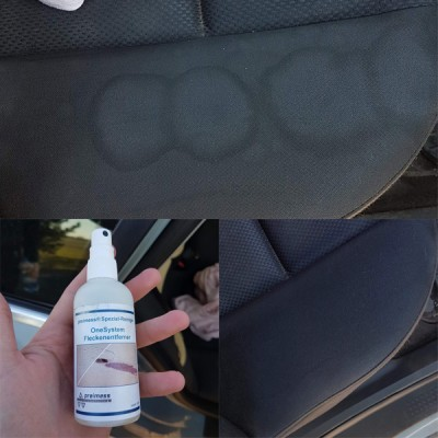 Pilt 3 - Auto istmekatete puhastamine on lihtne. Tulemus enne ja pärast.