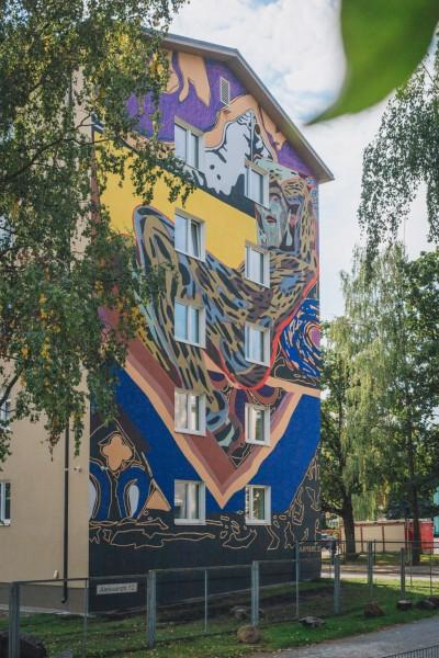 Pilt 2 - Tartu linn sai mastaapse seinamaalingu võrra rikkamaks