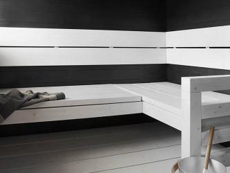 Pilt 4 - Musta ja valge kombinatsioon saunalaval
