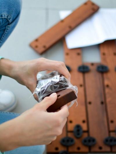 Moodulite kinnitusdetailid on valmistatud vastupidavast sünteetilisest kummist, mis võimaldab kerget ning korduvat kasutamist. - 2