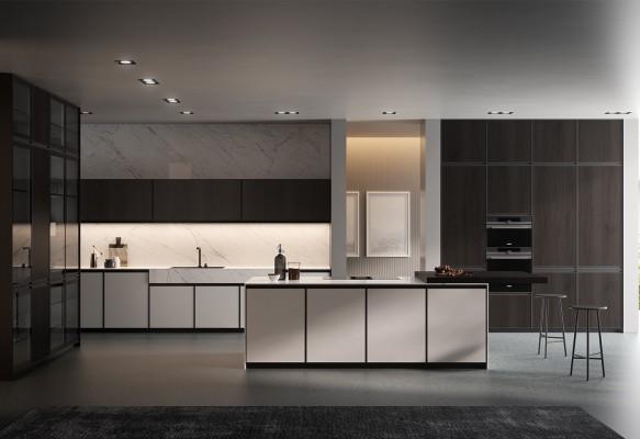 Pilt 5 - Köögitrendid 2021: klaasist püstak-vitriinid, riiulid, uued fassaadid
