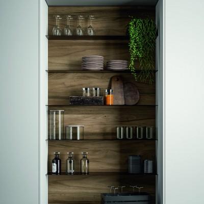 Pilt 9 - Köögitrendid 2021: klaasist püstak-vitriinid, riiulid, uued fassaadid