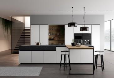 8 - Köögitrendid 2021: klaasist püstak-vitriinid, riiulid, uued fassaadid