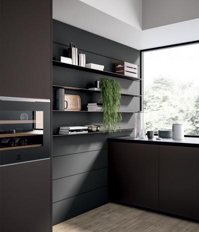 Pilt 8 - Köögitrendid 2021: klaasist püstak-vitriinid, riiulid, uued fassaadid