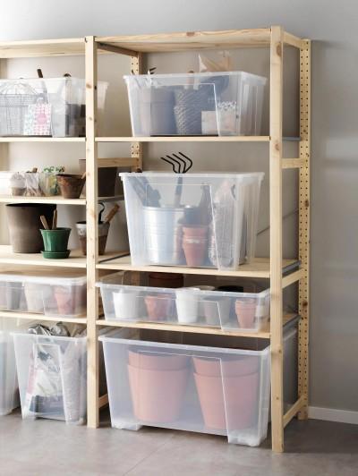 Riiulitega nurgake hobiaednikule - foto Ikea - 3
