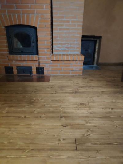 Õlitatud puitparkett - põrandaõli ja tumepruun pigment - 3