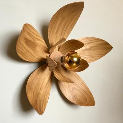 Painutatud puidust lillevalgusti KROOKUS - 2