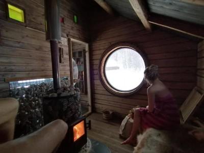 Puuküttega sauna leiliruum - 1