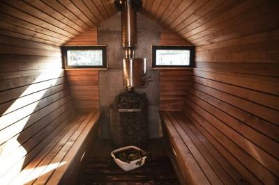 Puuküttega ja veepaagiga keris KÄRG saunamajas  - 2