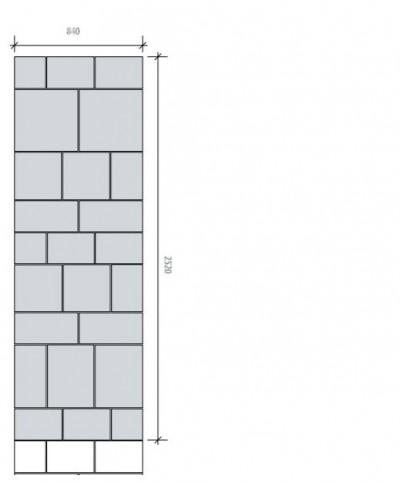 Rooma kõnniteekivid - majaesise sillutise mustri kavand - 28