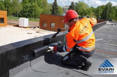 Töö gaasipõletiga - katuse parapeti katmine - 3