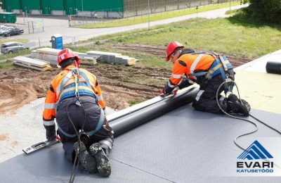 plastrullmaterjalist katuse ehitamine - 1