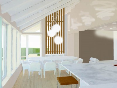 Siseruumi arhitektuurne ümber projekteerimine - uus lahendus - 2