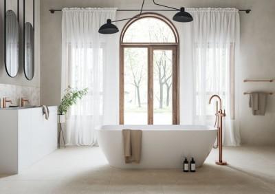 Harjatud kroom viimistlusega eradiseisev vannisegisti - Damixa Silhouet Freestanding - 4