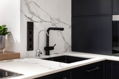 Köögimööbel - must ja marmor - 3