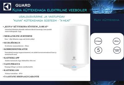 Electrolux Guard kaetud küttekehaga soojaveeboileri kirjeldus - 2
