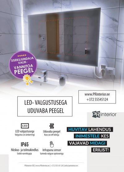 1 - LED peegel udueemaldusega