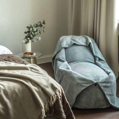 5 - Cocoon on pehme multifunktsionaalne käsitsi valmistatud kott-tool