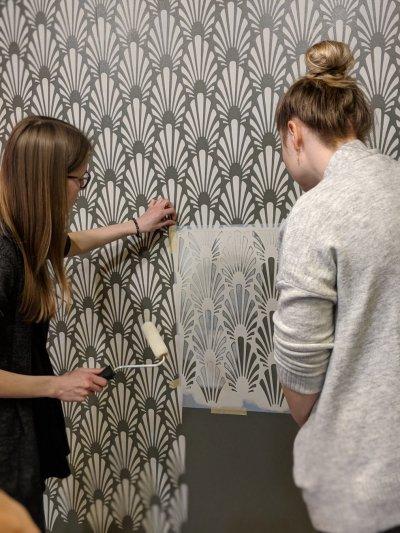 28 - Art deco šabloon seinal