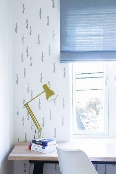 1 - Šablooniga värvitud sein