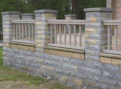 1 - Loodukivist müür ja piirdeaed.