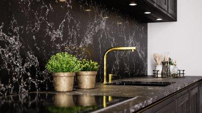 8 - Klassikaline köögimööbel must