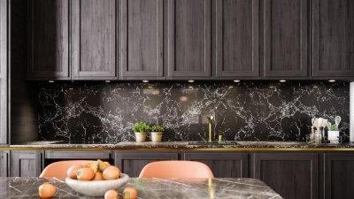 7 - Klassikaline köögimööbel must