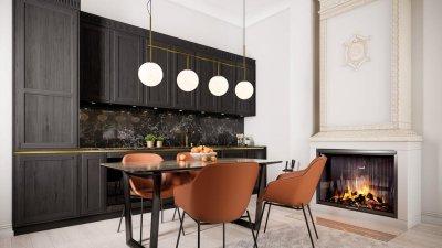 6 - Luksuslik ja glamuurne käsitlus vanas väärikas majas olevast köögist