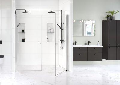Gustavsberg Square dušisein, Estetic dušikomplekt, Artic vannitoamööbel