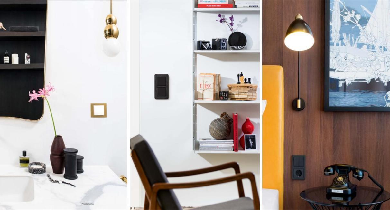 Seinalülitid ja pistikupesad sisekujunduses. Foto: Berker.com