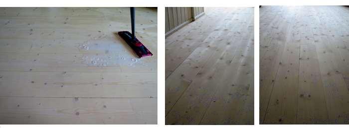 Põranda seebitamine