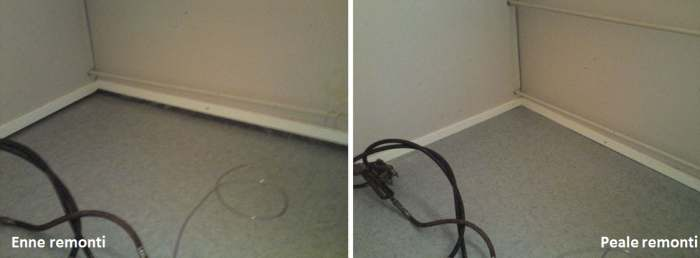 Põrand enne ja pärast remonti