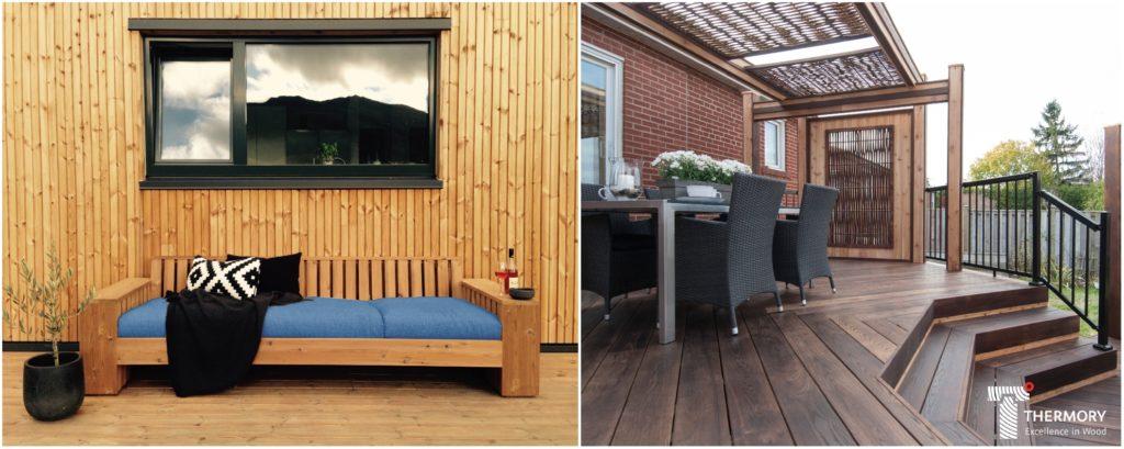 Termotöödeldud puidust voodrilauad ja terrassilauad