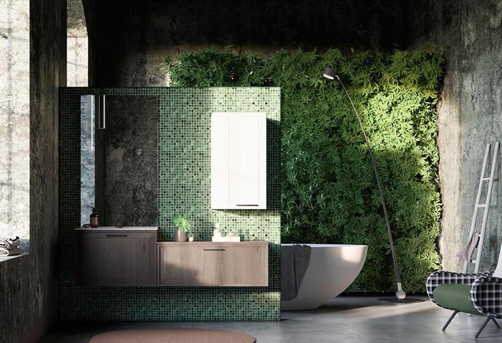 Loodustemaatika moodsas vannitoas.