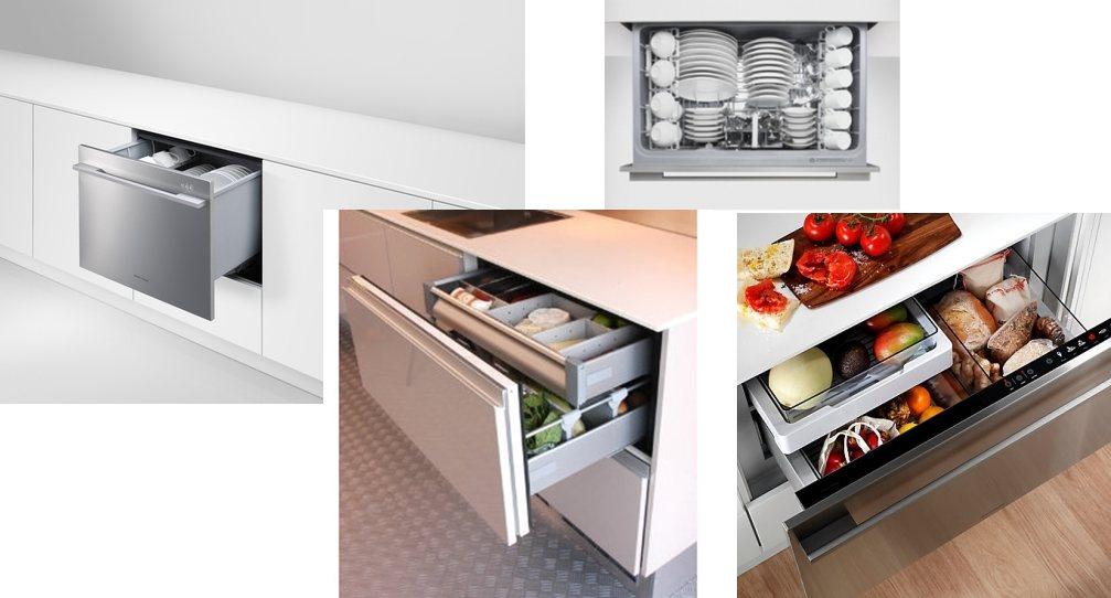 Integreeritavad sahtelkülmikud ja nõudepesumasinad