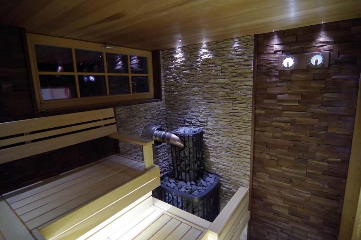 puidust dekoratiivsein leiliruumis