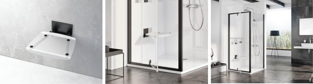 RAVAKi uudistooted – musta värvi dušikabiinid, dušiseinad ja dušiistmed
