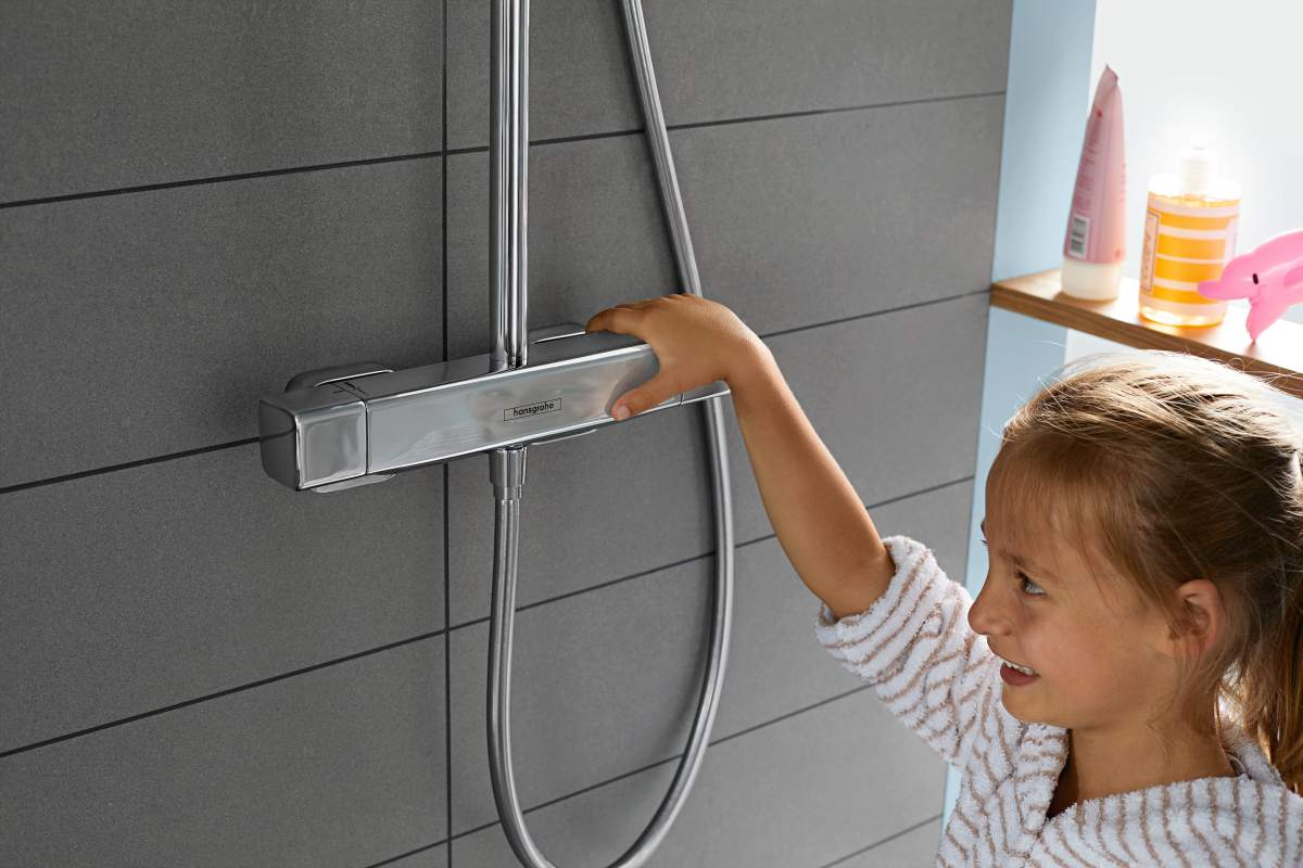 CoolContact-tehnoloogia ei lase Ecostat E termostaadi korpusel kuumaks minna, vaid hoiab seda kogu aeg jahedana.