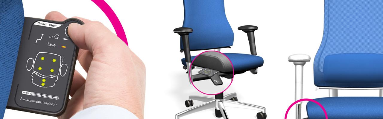 Axia Smart töötool aitab sul oma istumisasendist teadlikum olla ning kanda oma tervise eest hoolt terve tööpäev läbi.