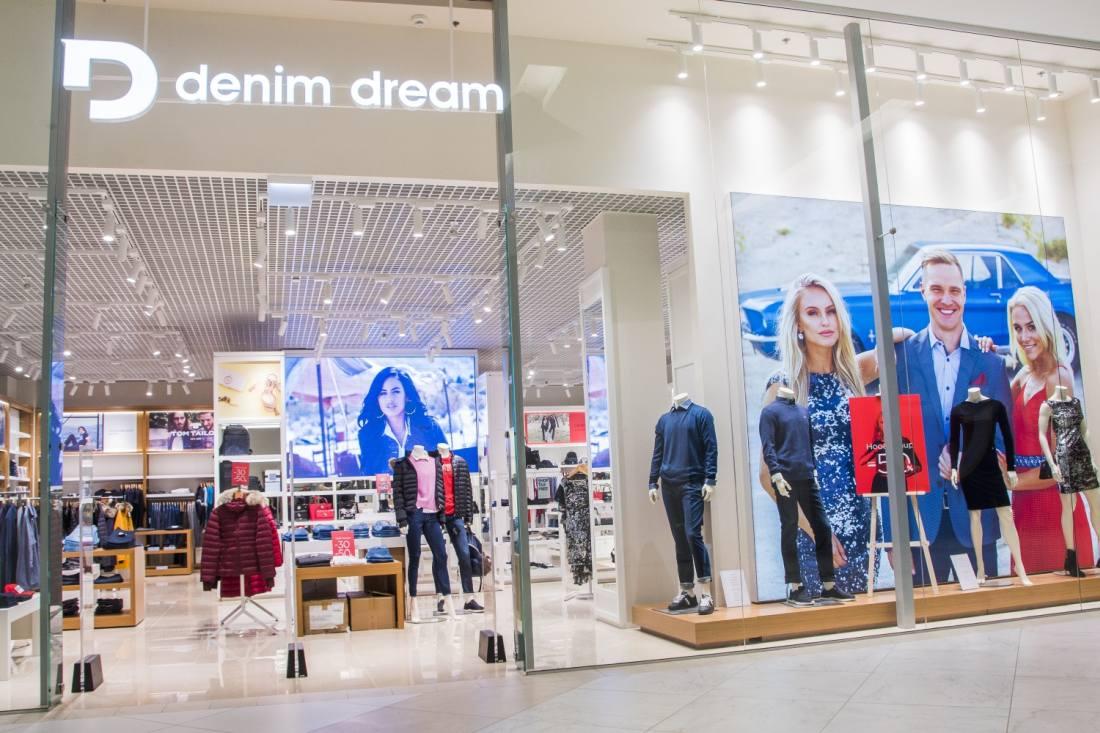 Denim Dream Spice Riia keskuse kaubanduspinnal on kasutatud ForteLed siinivalgusteid Berlin valge 30W 3000K, B-Seeria valge 30W  3000K.