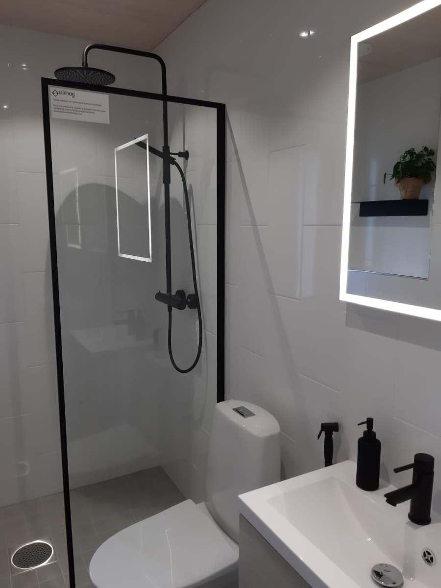 Pesuruumides hakkasid silma mattmusta viimistlusega duši- ja valamusegistid.