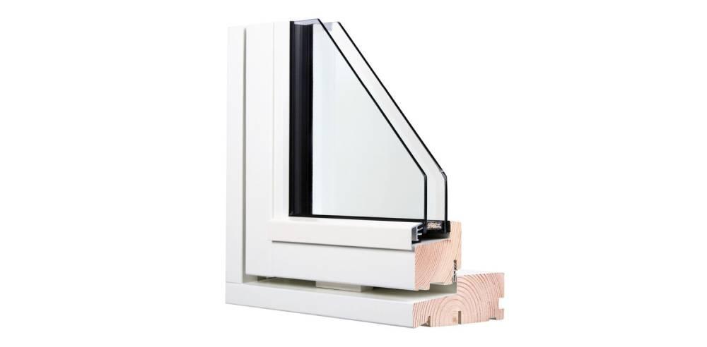 Kahekordne klaaspakett. Puit- või puitalumiiniumakna UV väärtuseks on 1,1.