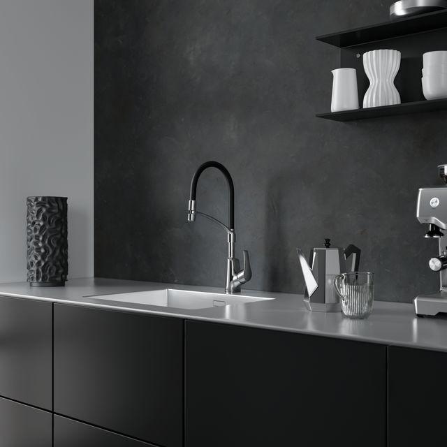 Damixa Rowan Pro köögikraan sisaldab painduvat või väljatõmmatavat jooksutoru ja on mõeldud nendele, kes vajavad segistile lisa funktsionaalsust.