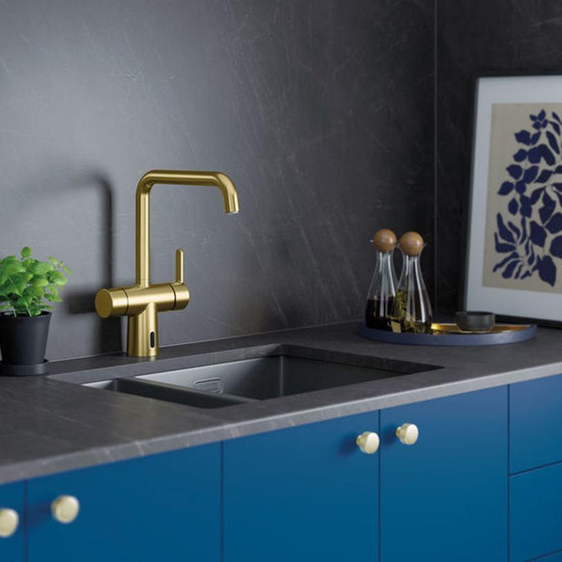 Köögikraan Damixa Silhouet kuld - harjatud messing