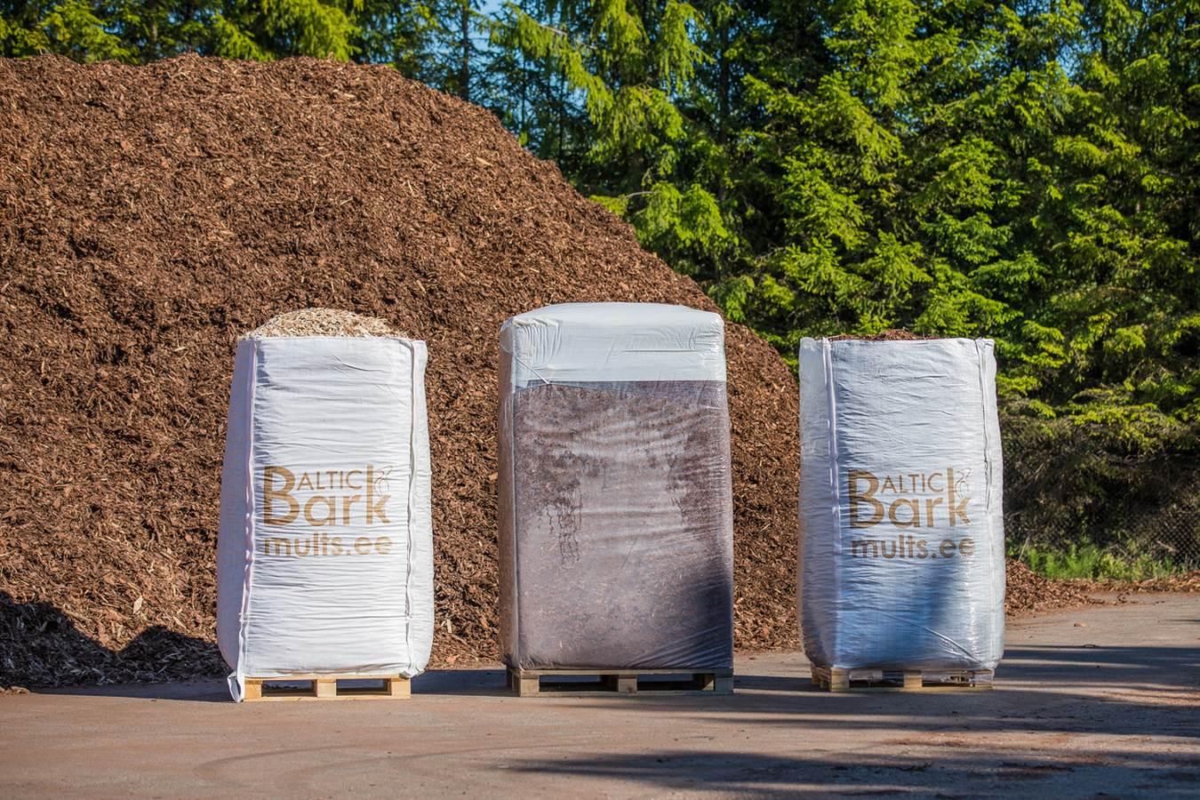 Kaubaalusel multši – väikepaki aluseid, Big-Bage ja suurpalle – saab maha laadida ainult kõvakattega pinnasele
