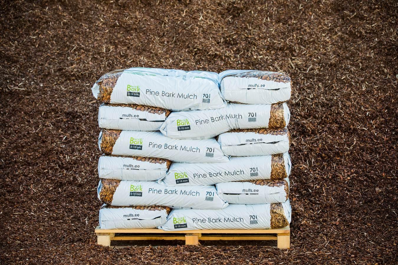 Miinimum kogus multši, mis Baltic Bark laost osta saab on 1m3 puistes või pool alust pakendatult (1,25 m³)